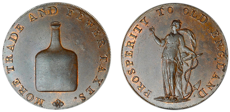 Dinmore & Son, Copper Halfpenny (D&H Norfolk 24a)