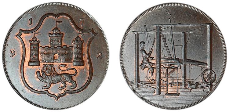 John Harvey, Copper Halfpenny, 1792 (D&H Norfolk 38)
