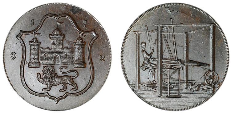 John Harvey, Copper Halfpenny, 1792 (D&H Norfolk 42)