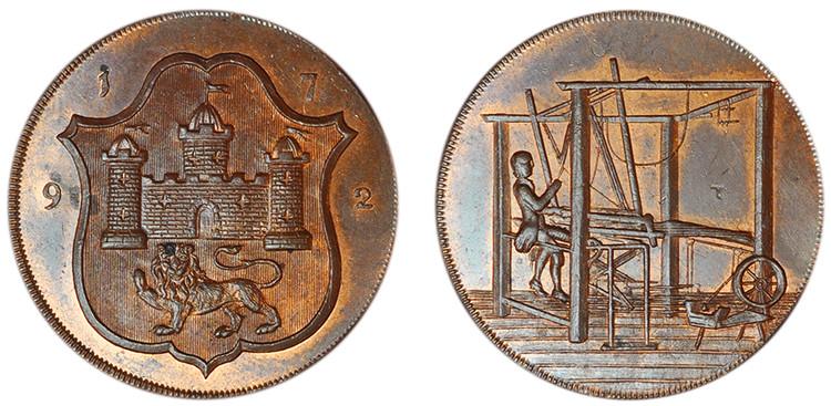John Harvey, Copper Halfpenny, 1792 (D&H Norfolk 44)