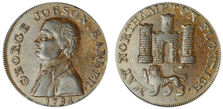 George Jobson, Copper Halfpenny, 1794 (D&H Northamptonshire 1)