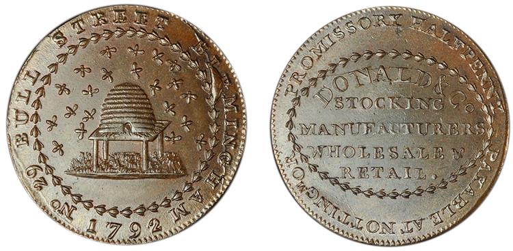 William Donald & Co., Copper Halfpenny, 1792 (D&H Nottinghamshire 8)