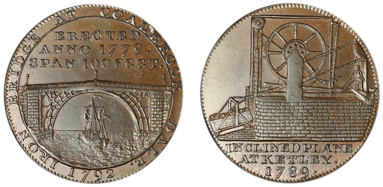 Reynolds & Co., Copper Halfpenny, 1789 (D&H Shropshire 15)