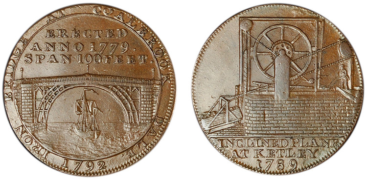 Reynolds & Co., Copper Halfpenny, 1789 (D&H Shropshire 16)
