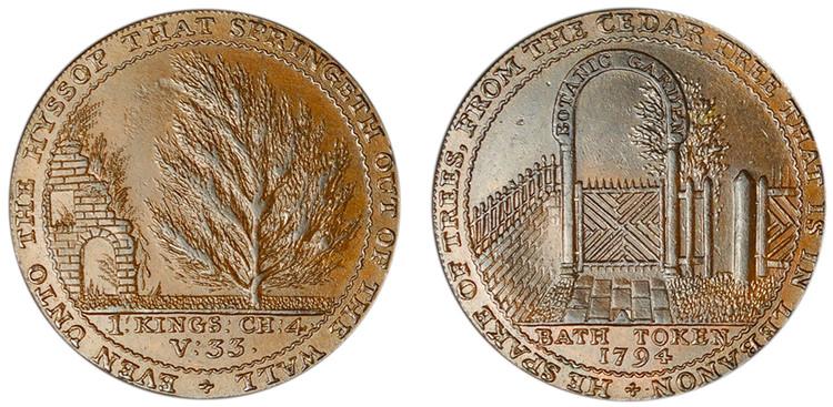 Bath, Copper Halfpenny, 1794 (D&H Somersetshire 26)