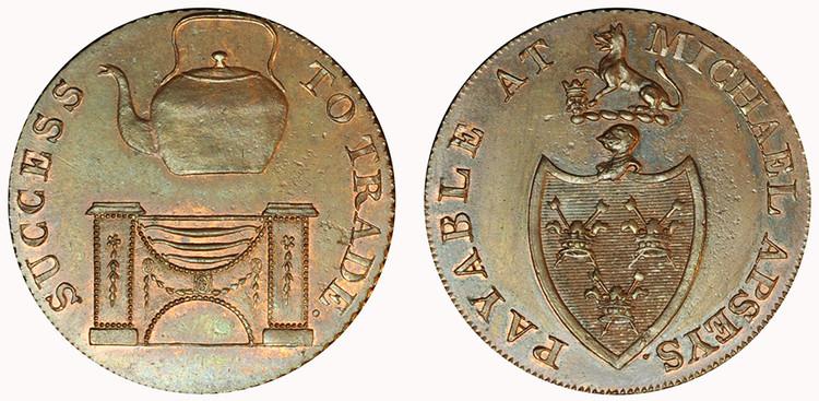 Michael Aspey, Copper Halfpenny (D&H Suffolk 28 )