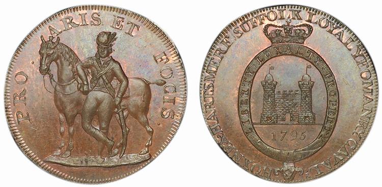 Thomas Tallant, Copper Halfpenny, 1795 (D&H Suffolk 33)