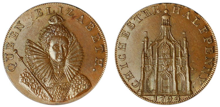 Dally & Son, Copper Halfpenny, 1794 (D&H Sussex 15)