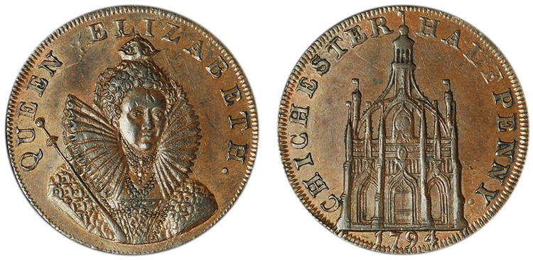 Dally & Son, Copper Halfpenny, 1794 (D&H Sussex 15b)