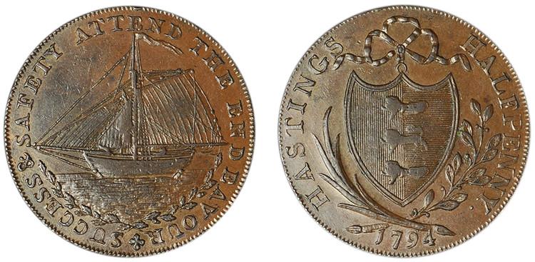 James Tebay, Copper Halfpenny, 1794  (D&H Sussex 25)