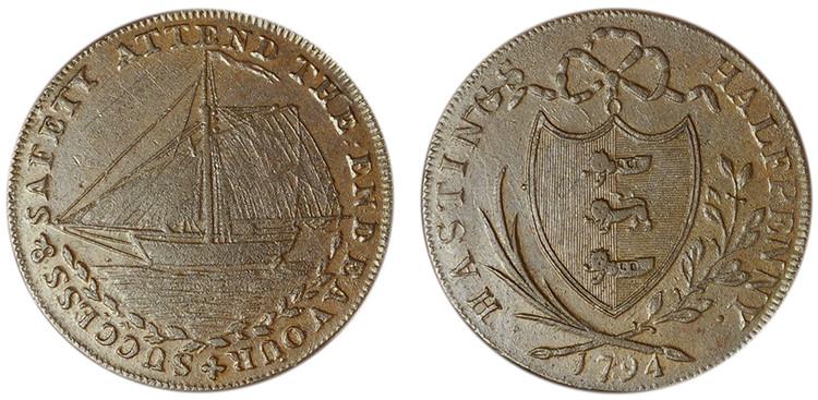 James Tebay, Copper Halfpenny, 1794 (D&H Sussex 26)