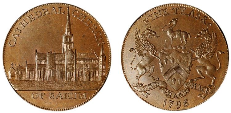 John & Thomas Sharpe, Copper Halfpenny, 1796 (D&H Wiltshire 21)