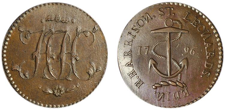 Henry Harrison, Copper Halfpenny, 1796 (D&H Lothian 19)