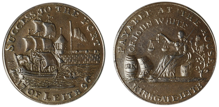 John White, Copper Halfpenny, 1796 (D&H Lothian 59)