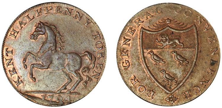 William Fuggle, Copper Halfpenny, 1794 ( D&H Kent 28b)