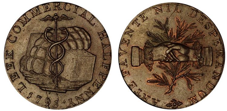 Peter Kempson, Copper Halfpenny, 1793  (D&H Staffordshire 10)
