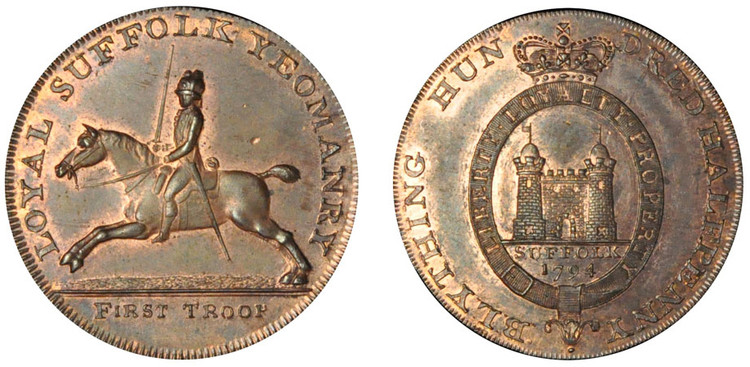 John Rous, Copper Halfpenny, 1794  (D&H Suffolk 19)