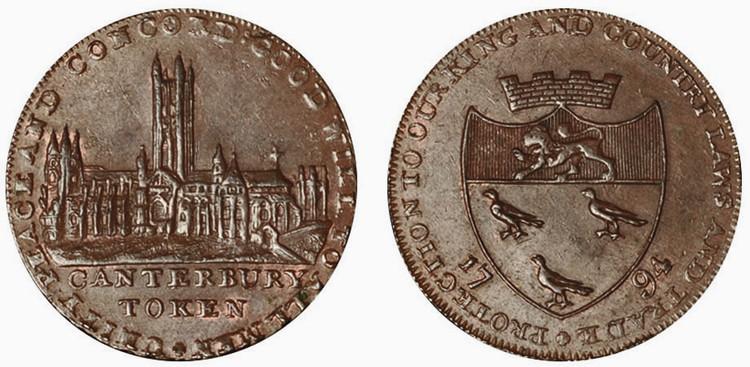 John Matthews, Copper Halfpenny, 1794  (D&H Kent 6)