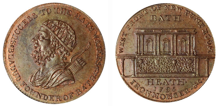 Francis Heath, Copper Halfpenny, 1795  (D&H Somersetshire 40)