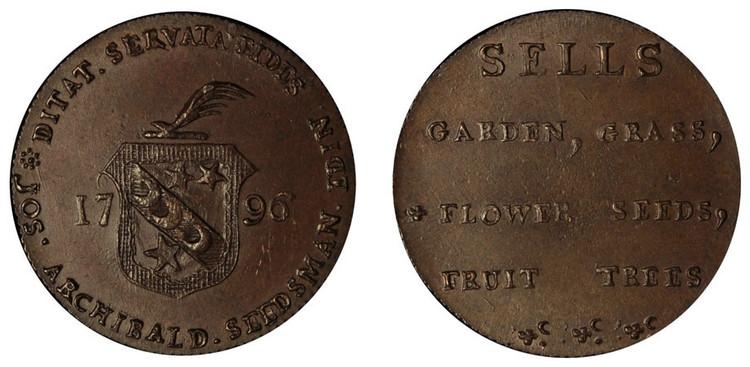 Joseph Archibald, Copper Halfpenny, 1796  (D&H Lothian 10)