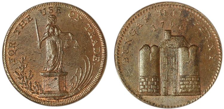Samuel Prentice, Copper Penny, 1796  (D&H Suffolk 3)