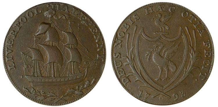 Imitation Thomas Clarke 1/2d, 1793 (D&H Lancashire 107) From the Dalton Collection