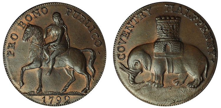 Robert Reynolds & Company 1/2d, 1792 (D&H Warwickshire 231)