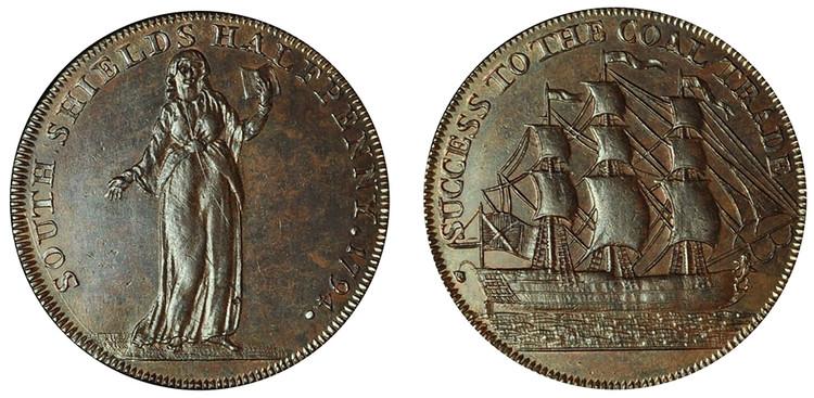 Kempson's South Shields 1/2d, 1794 (D&H Durham 4)