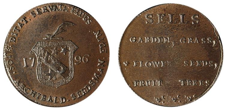 Joseph Archibald, Copper 1/2d, 1796 (D&H Lothian 10)