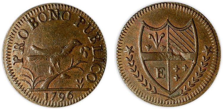 Edinburgh Copper 1/4d, 1796 (D&H Lothian 69)