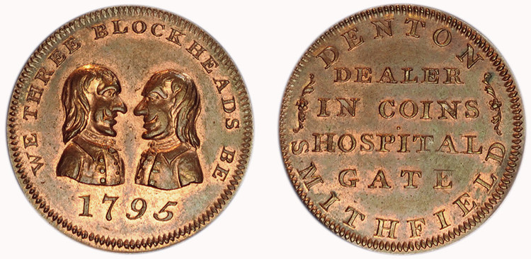 Matthew Denton, Copper 1/4d, 1795 (D&H Middlesex 1053)