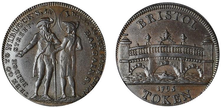 Niblock & Hunter, Copper 1/2d, 1795 (D&H Somersetshire 103)