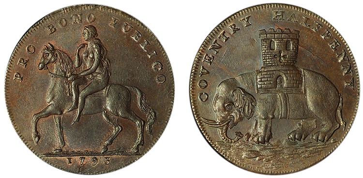 Coventry, Imitation Robert Reynolds & Company Copper 1/2d (D&H Warwickshire 244)