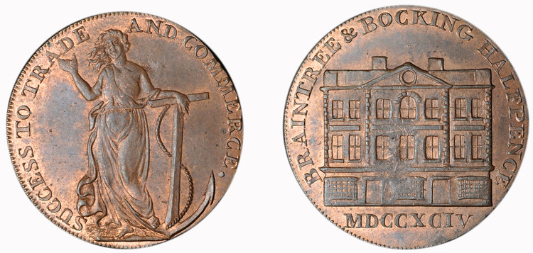 William Goldsmith, Commercial Halfpenny, 1794  (D&H Essex 4)