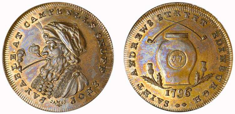 Euphame Campbell, Copper Halfpenny, 1795 (D&H Lothian 14)