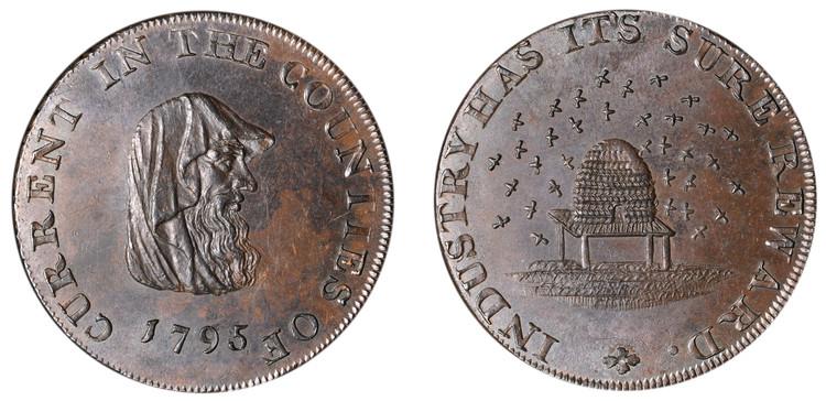 Peter Kempson, Cambridge Halfpenny, 1795  (D&H Cambridgeshire 12a)