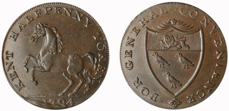 William Fuggle, Commercial 1/2d, 1794 (D&H Kent 28b)