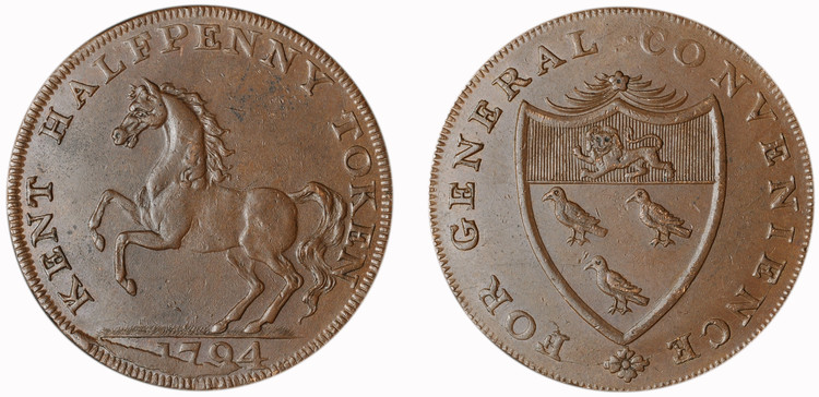 William Mynn, Commercial 1/2d, 1794 (D&H Kent 29)