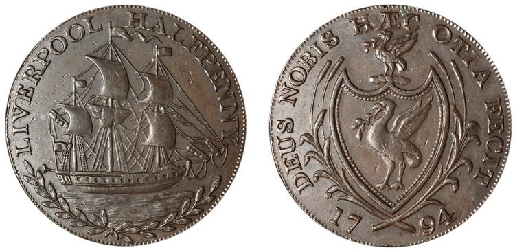 Imitation Thomas Clarke 1/2d, 1794 (D&H Lancashire 108)