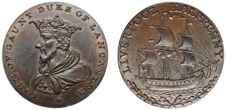 Imitation Thomas Clarke 1/2d mule, c1794 (D&H Lancashire 114)