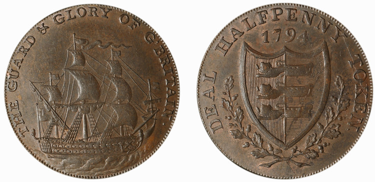 Richard Long, Deal 1/2d, 1794 (D&H Kent 11)