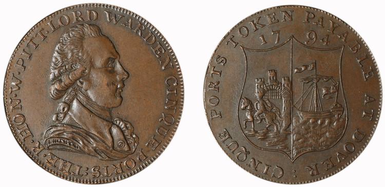 John Horn, Dover 1/2d, 1794 (D&H Kent 16)