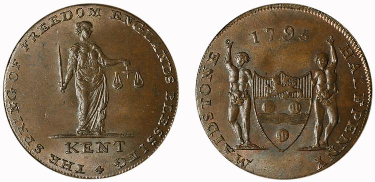 Henry Oliver, Maidstone 1/2d, 1795 (D&H Kent 36)