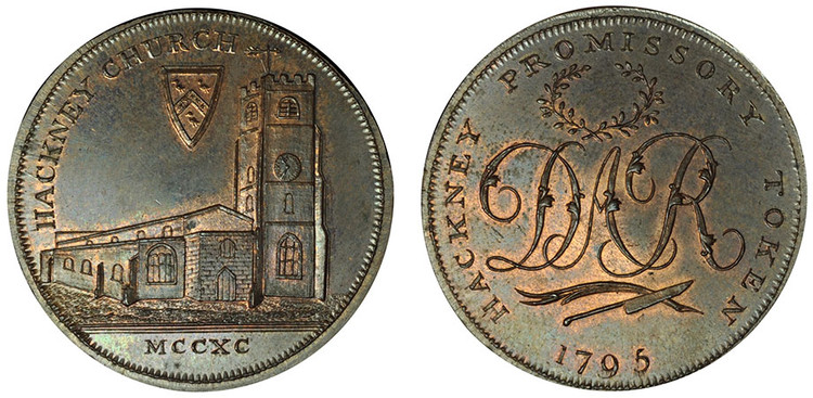 Skidmore, Copper Halfpenny, c1795, (D&H Middlesex 310b)