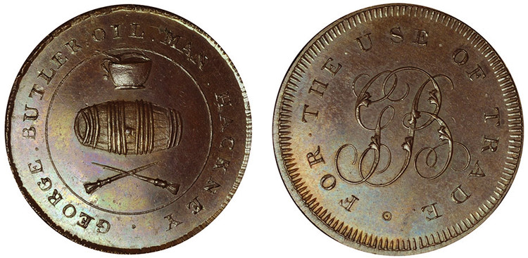 George Butler, Copper Halfpenny (D&H Middlesex 312)