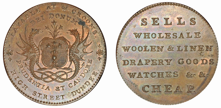 William Croom, Copper Halfpenny, (D&H Angusshire 14)