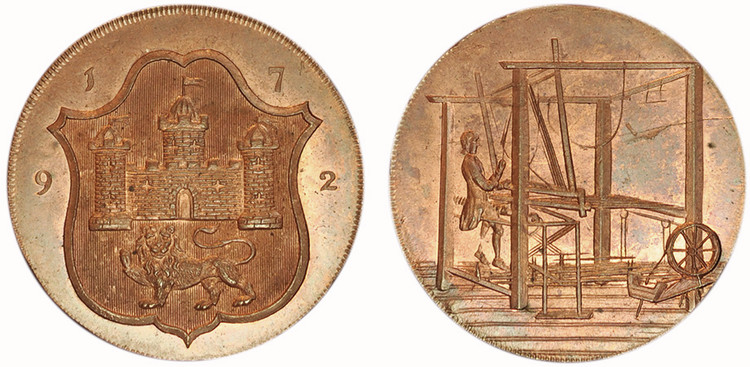 John Harvey, Copper Halfpenny, 1792 (D&H Norfolk 45)