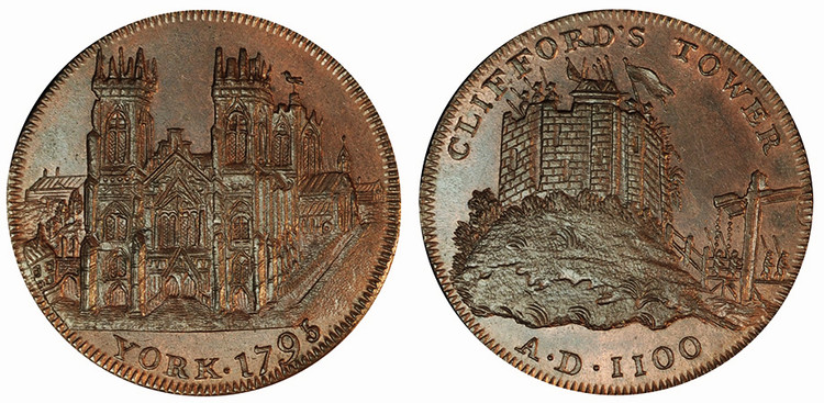 Peter Kempson, Copper Halfpenny, 1795 (D&H Yorkshire 63)