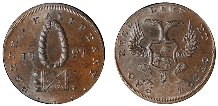 Patrick Maxwell, Commercial Halfpenny, 1797 (D&H Perthshire 5)