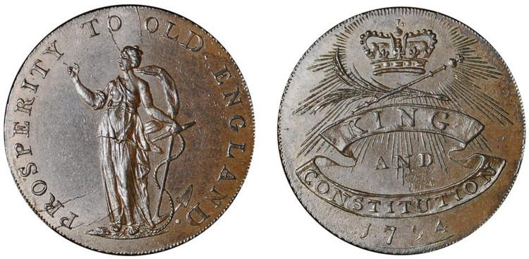 Peter Kempson, Halfpenny Mule, 1794 (D&H Essex 7)